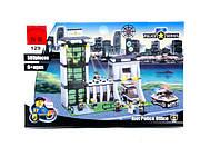 Конструктор brick 129  589 дет Полицейский участок в коробке