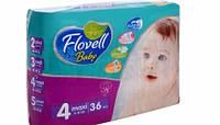 Подгузники Flovell Baby Maxi №4 36шт