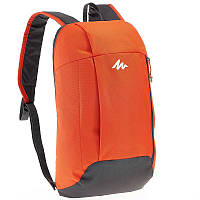 Рюкзак оранжевый с серым легкий, городской и велосипедный, 10 Л