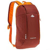 Рюкзак легкий, маленький темно-красный с оранжевым (велосипедный ) 10 Л