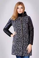 Пальто женское с рукавами и капюшоном из эко кожи