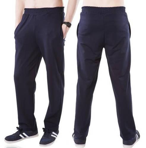 Темно синие спортивные брюки мужские трикотажные прямые Украина