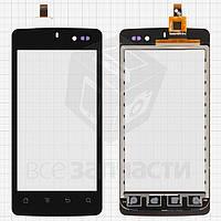 Сенсорный экран для мобильных телефонов K-Touch U86; IconBIT NetTAB Mercury Q4 (NT-3509M), черный, #CT2C0002-V