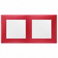 Рамка 2 поста горизонтальный монтаж красная Schneider Electric Sedna