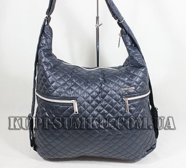 8a9866b7e20c Повседневная сумка женская из плащевки темно-синего оттенка - Интернет- магазин
