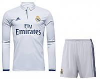 Детская футбольная форма Реал Мадрид с длинным рукавом. Сезон 2016-2017