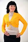 Вязанное болеро желтое из буклированной пряжи хлопок (БЛ 606047), фото 3