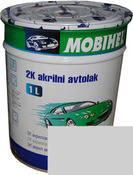 Автоэмаль Mobihel Белая Газ 1л, акриловая.