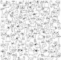 Обои-раскраски для детей Котики 60х100 см