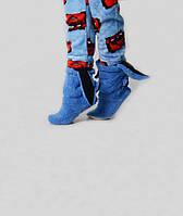 Синие домашние сапожки с ушками для девочек 970