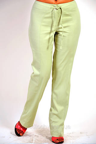Брюки летний джинс  олива , бежевые женские ( БР 652606)