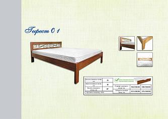 """Кровать деревянная """"Гефест С 1"""" 1600х2000 с ламелями"""