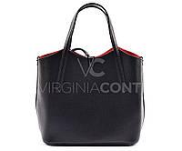 Черная сумка-шоппер из Италии 8421