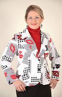 Жакет женский, (ЖК 009-2),  котон , одежда для полных, весна лето 2014 .
