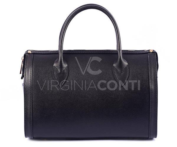 Сумка-саквояж черная Virginia Conti 01090