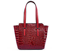 Лаковая красная кожаная сумка из Италии 01089