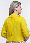 Жакет женский (ЖК 715589), лен, хлопок, желтый, 44,46,48,50,52, болеро., фото 2