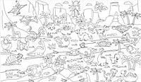 Обои - раскраски для детей Динозавры 60х100см