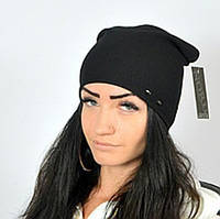 """Женская шапка """"Кетрин"""" черный. Молодежные шапки. Женские головные уборы."""
