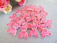 """Серединка для заколок  """"Медвежонок"""" розового цвета"""