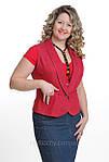 Красный джинсовый жилет Жл 007 48 размер , скидка, фото 2