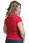 Красный джинсовый жилет Жл 007 48 размер , скидка, фото 3