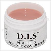Гель камуфлирующий DIS Builder Cover Rose (средней вязкости,телесный розовый) 30 г.