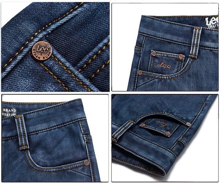 0fe2e1d8d91 Утепленные джинсы LEE. Мужские джинсы. Стильный дизайн. Высокое качество. Интернет  магазин. Код  КДН988