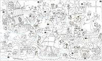 Обои-раскраски для детей Пиратская карта 60х100см