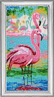 Набор для вышивания бисером Вечерние фламинго БФ 523