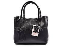 Кожаная сумка черная Virginia Conti 8394