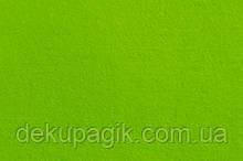 Фетр для рукоделия 1,4мм 20х30см, ярко-зеленый