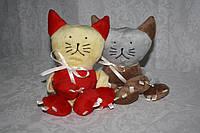 Велюровая игрушка котик для животных