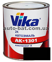 000 Автоэмаль двухкомпонентная акриловая автокраска Vika 000 Черный мат 0,4кг