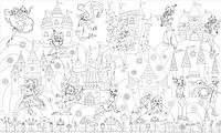 Обои-раскраски для детей Принцессы Винкс 60х100см