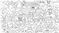 Наклейка - раскраска для детей Ноев Ковчег 60х85см