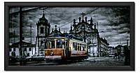 Репродукция в раме Трамвай в вечернем городе