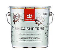 Лак алкид-уретановый TIKKURILA UNICA SUPER 90 яхтовый, глянцевый, 2,7л