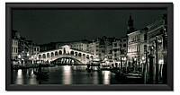 Репродукция в раме Вечерняя Венеция (ч/б)