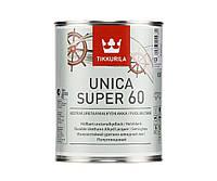 Лак алкид-уретановый TIKKURILA UNICA SUPER 60 яхтовый, полуглянцевый, 0,9л