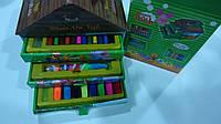 """Набор художника в карт. домике ,37пр,3 яруса """"Винни Пух"""".Детский набор для рисования """"Винни Пух"""" в картонном д"""