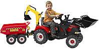 Трактор педальный с двумя ковшами Case Puma Falk