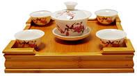 Набор для чайной церемонии, гайвань 125 мл и 4 пиалы 25 мл, 170х100х180