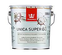 Лак алкид-уретановый TIKKURILA UNICA SUPER 60 яхтовый, полуглянцевый, 2,7л