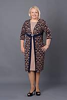 """Женское платье из материала с узором типа """"обои"""