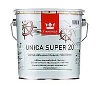 Лак алкид-уретановый TIKKURILA UNICA SUPER 20 яхтовый, полуматовый, 2,7л