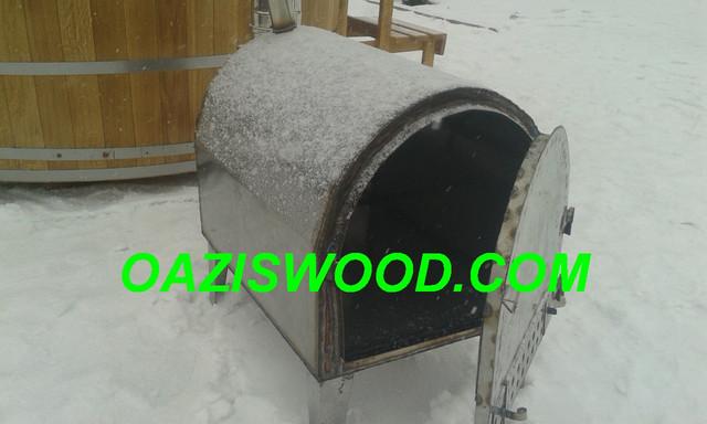 печка наружная для купелей, офуро, фурако, японской бане