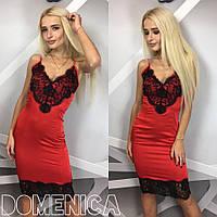 Женское платье шелк и кружево Р1357
