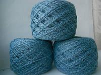 Пряжа полушерсть.Слонимская фабрика.Цвет серо-голубой+джинс