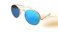 Солнцезащитные очки в металлической оправе, круглые, Toxic